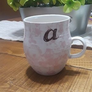 "Anthropology ""a"" initial mug"